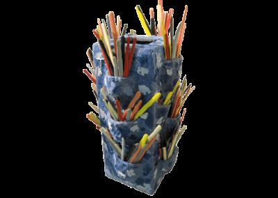 <i>Design del colore – plasticità ceramica mobile</i>, 2011, tecniche ceramiche miste