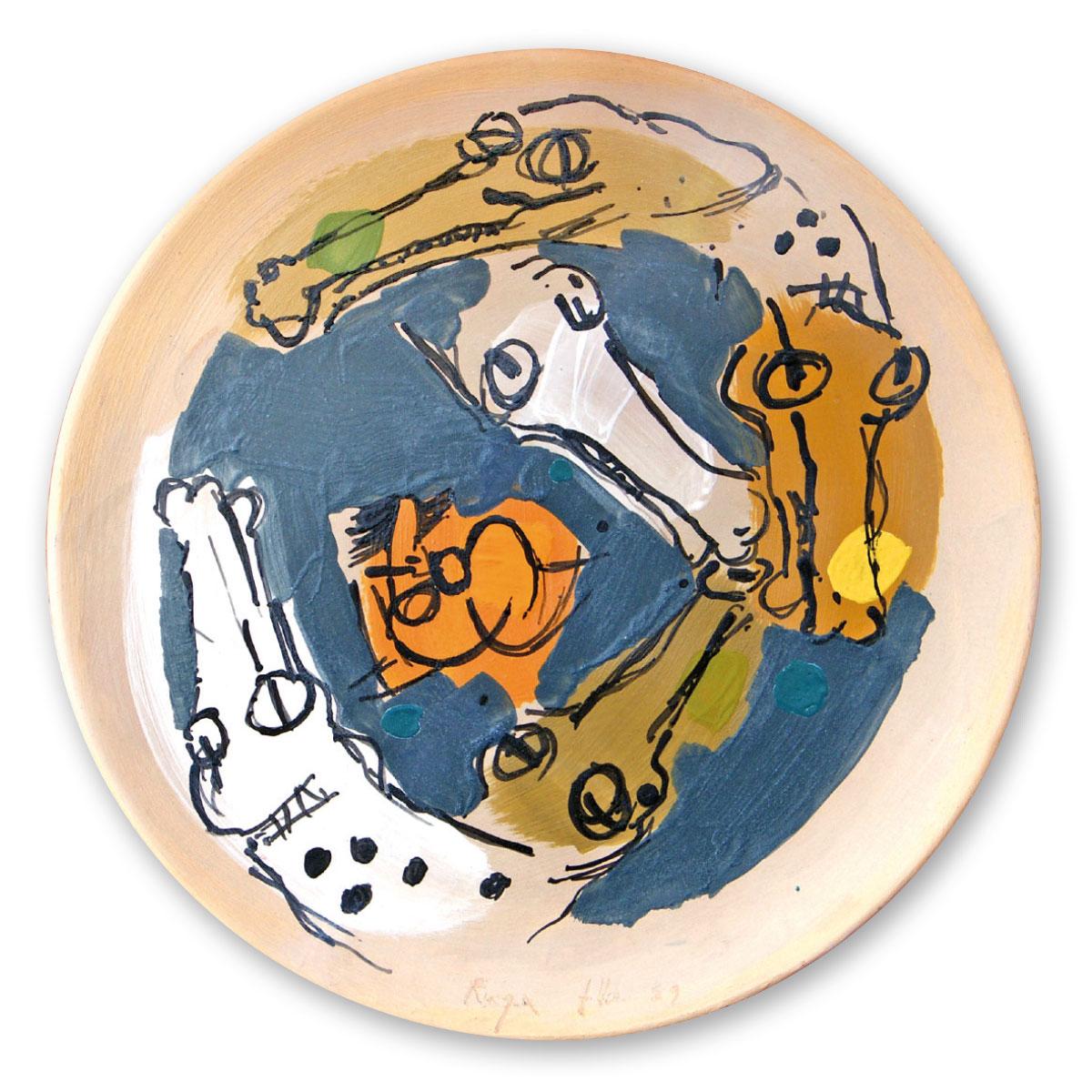 L'opera dell'artista Angelo Ruga acquisita dal Museo a cielo aperto di Denice, dedicato alla ceramica contemporanea