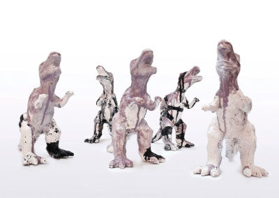 <i>Gozzilla</i>, 2011, ceramica smaltata