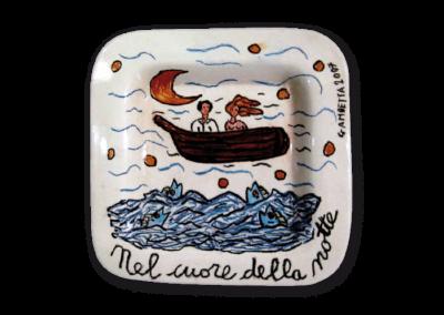 <i>Nel cuore della notte </i>, 2007, ceramica smaltata