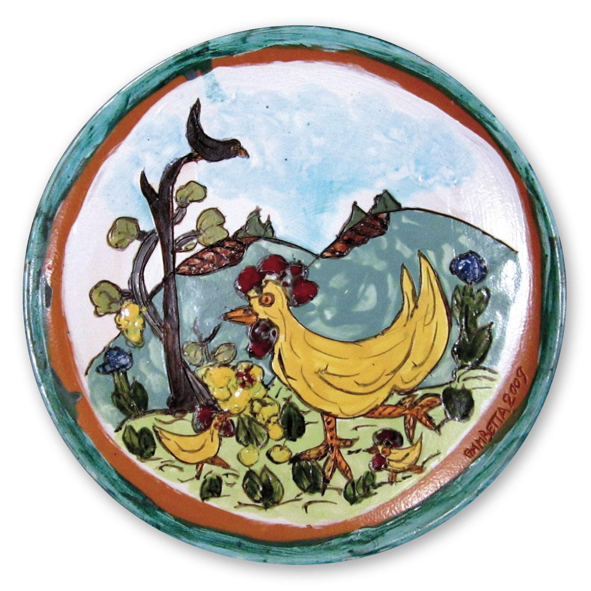 L'opera dell'artista Dino Gambetta acquisita dal Museo a cielo aperto di Denice, dedicato alla ceramica contemporanea