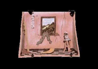 <i>Paesaggio che entra dalla finestra</i>, 1991, terracotta, ingobbio, smalto