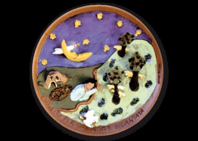 <i>Progetto per una notte incantata</i>, 2001, terracotta, ingobbio, smalto
