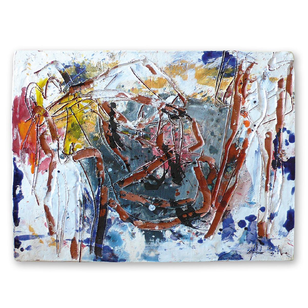 L'opera dell'artista Giorgio Moiso acquisita dal Museo a cielo aperto di Denice, dedicato alla ceramica contemporanea