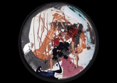 senza titolo, 2010, terracotta policroma a ingobbi e graffita