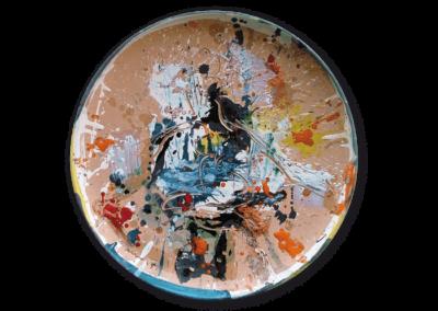 senza titolo, 2007, terracotta policroma a ingobbi e graffita