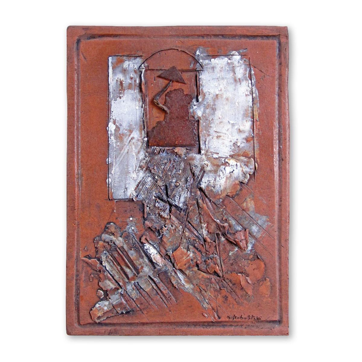 L'opera dell'artista Giorgio Robustelli acquisita dal Museo a cielo aperto di Denice, dedicato alla ceramica contemporanea