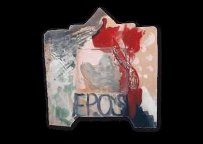<i>Epos</i>, 1995, ceramica policroma