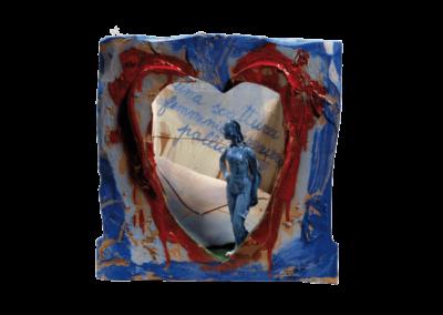 <i>Una scrittura femminile azzurro pallido</i>, 2006, teatrino in ceramica policroma