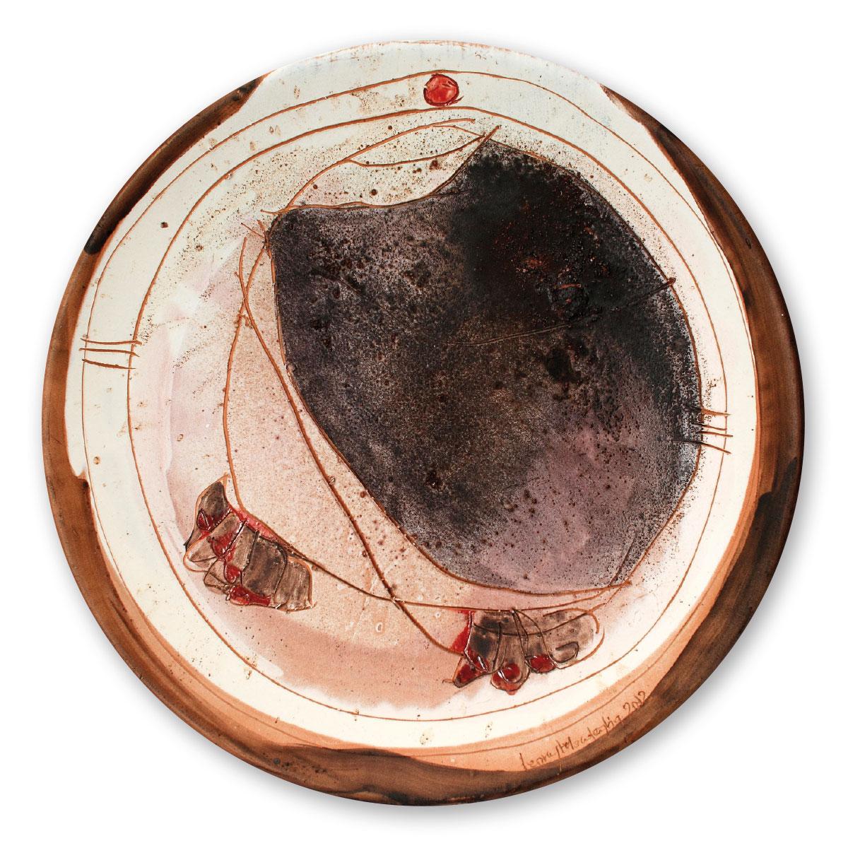 L'opera dell'artista Leony Mordeglia acquisita dal Museo a cielo aperto di Denice, dedicato alla ceramica contemporanea