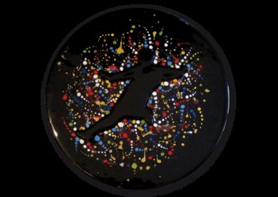 <i>Calciatore</i>, 2011, ceramica smaltata