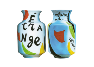 <i>Étrange</i>, 2006, smalti e colori a gran fuoco