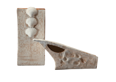 <i>Nicchio</i>, 2010, ceramica, conchiglie, cera, ossidi
