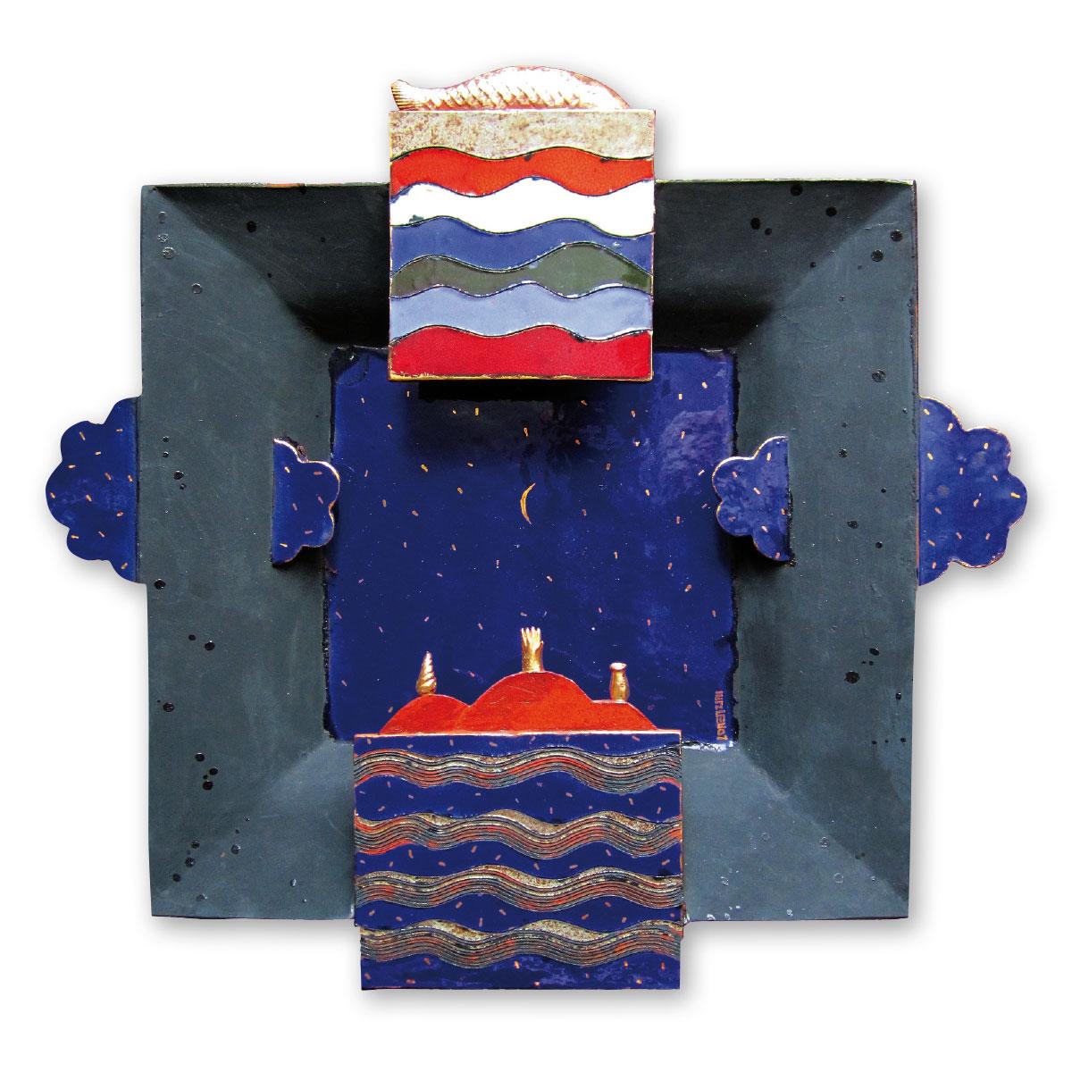 L'opera dell'artista Sandro Lorenzini acquisita dal Museo a cielo aperto di Denice, dedicato alla ceramica contemporanea