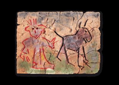 <i>Uomini delle caverne</i>, 2015, terracotta