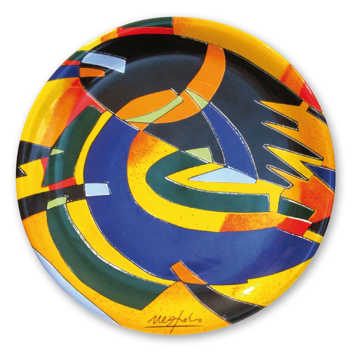 L'opera dell'artista Ugo Nespolo acquisita dal Museo a cielo aperto di Denice, dedicato alla ceramica contemporanea